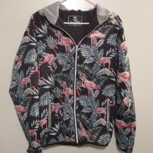 Jungle Flamingo Windbreake Jacket by Blount & Pool